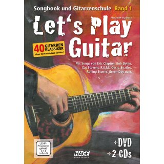 Let´s play guitar 1 + DVD + 2 CD´s